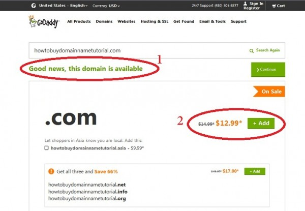 How to Register Your Own Domain Name by Godaddy