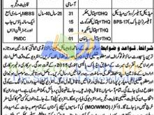 Health Department District Bhakkar Jobs December 2021-16 Test Interview Dates Application Form Eligibility