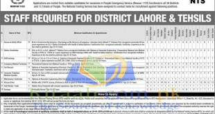 Punjab Rescue 1122 Jobs 2021 2021 NTS Form Download Eligibility Criteria