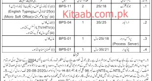 Punjab Labour Court Lahore Jobs 2021 NTS Test Application Form Dates and Schedule Roll Number Slips