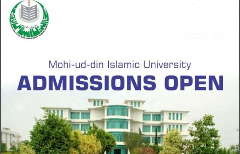 Mohi-ud-Din Islamic University MBBS Admission 2021 Entry Test Dates & Schedule Eligibility