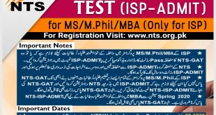Institute of Southern Punjab Multan Admission 2021 NTS Test Roll Number Slips Entry Test Sample Papers