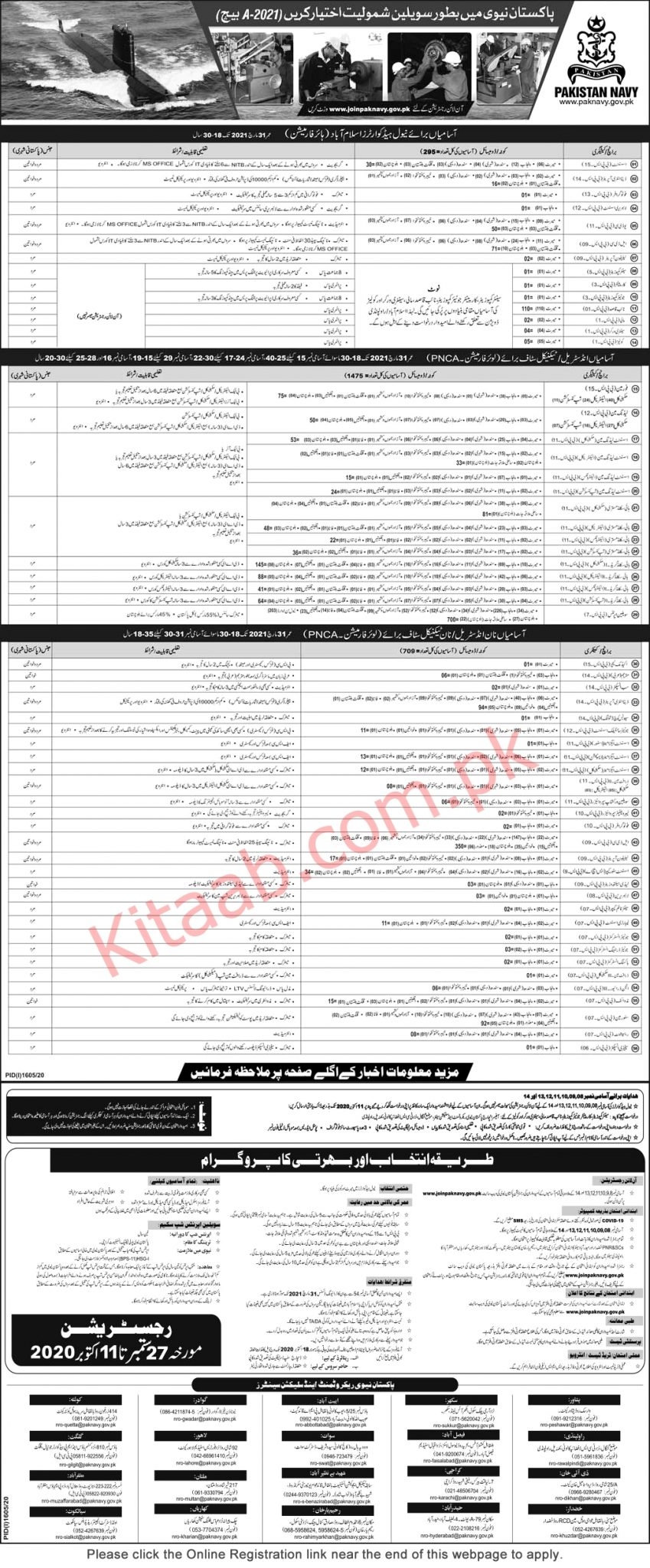 Join Pakistan Navy Civilian Jobs 2021-A Batch Online Registration Eligibility Criteria Last Date