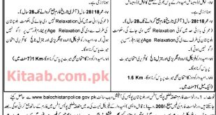 Police Department Balochistan Constable & Lady Constable Jobs 2021 Download Application Form