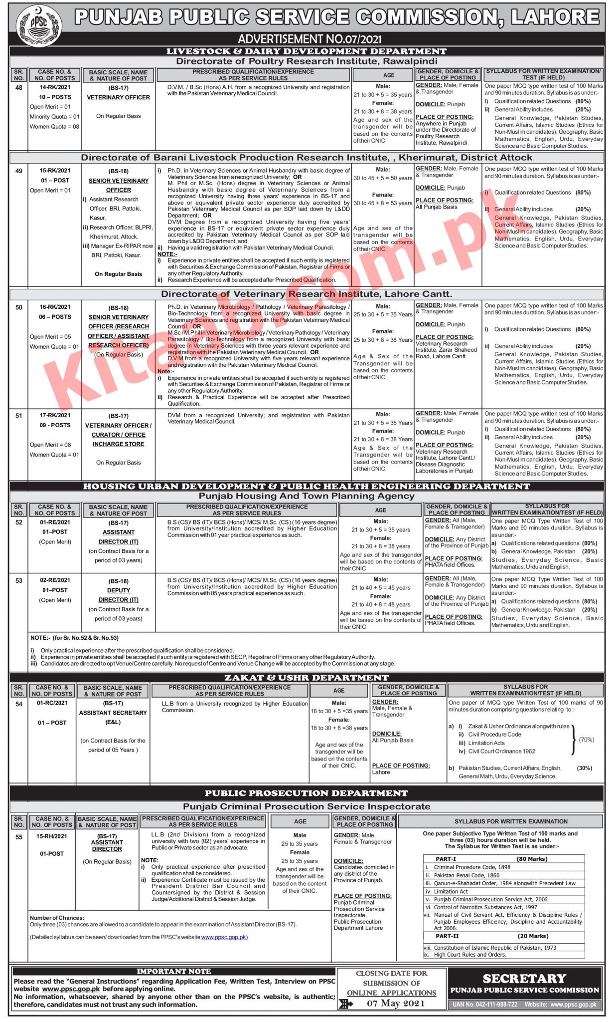 Urban Development And Public Health Engineering Department Jobs 2021
