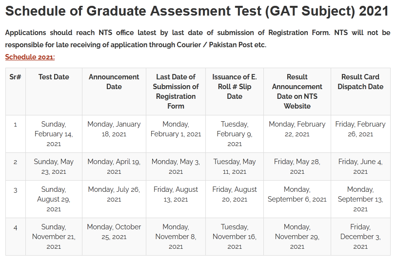 Graduate Assessment Test NTS GAT Subject Answer Key Result 2021 II Merit List Successful Candidates
