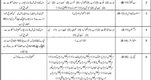 Balochistan Jobs 2021 Irrigation Department Qualification Criteria Information